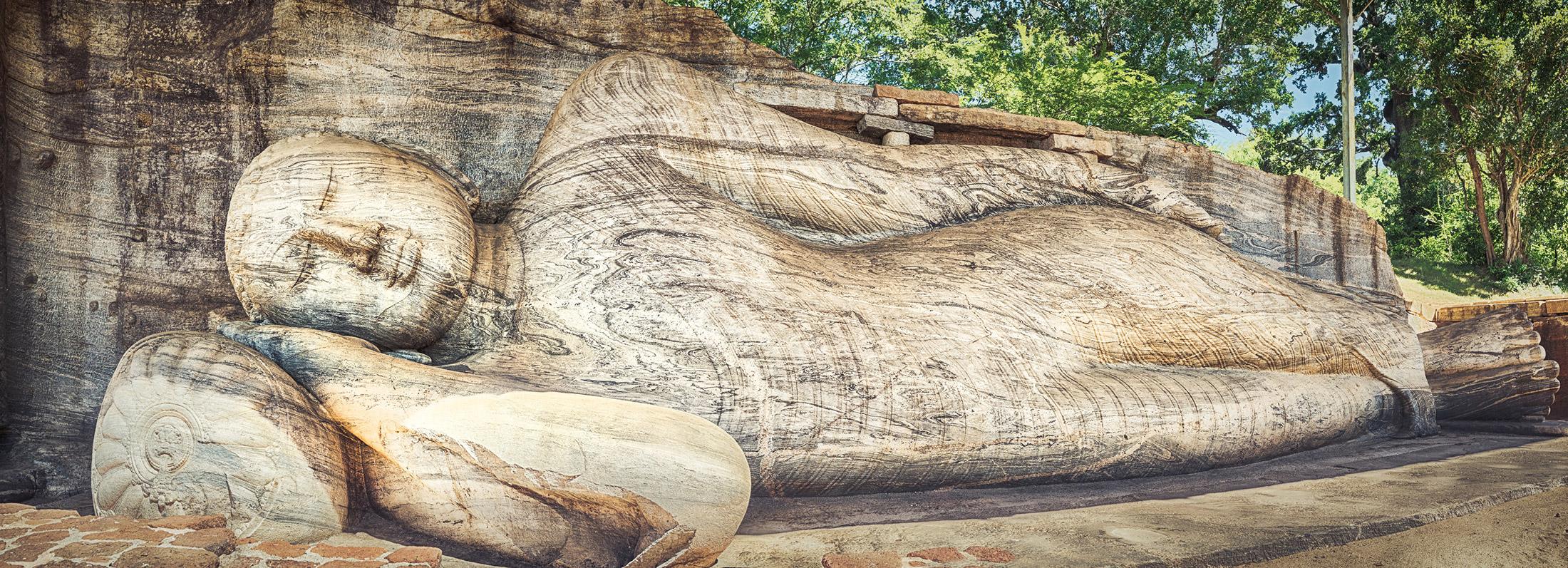 Eines der Highlights des archäologischen Parks von Polonnaruwa