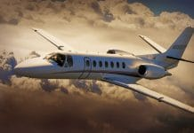 Citation Private Jet Flughafen Lounge